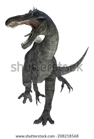 3D digital render of a suchomimus tenerensis isolated on white background