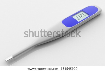 3D Digital Thermometer  - stock photo