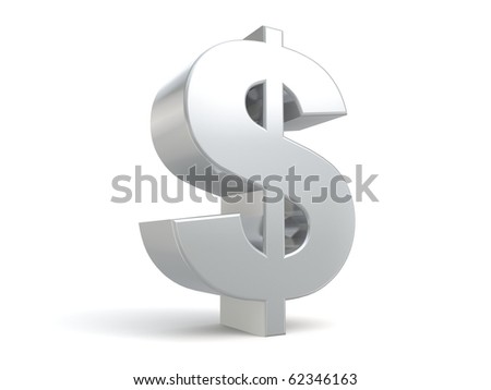 3d dollar sign from my metal collection