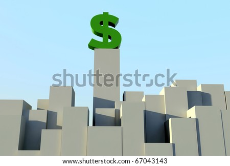 3d dollar sign on long box size