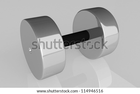 3d Dumbbell weights on white background
