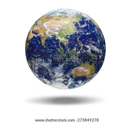 3D. Earth, Globe, Australia. Elements of this image furnished by NASA.