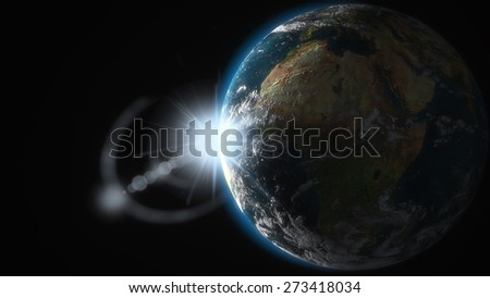 3D. Earth, Space, Planet. Elements of this image furnished by NASA. - stock photo