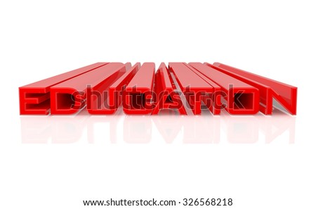 3D EDUCATION word on white background 3d rendering - stock photo