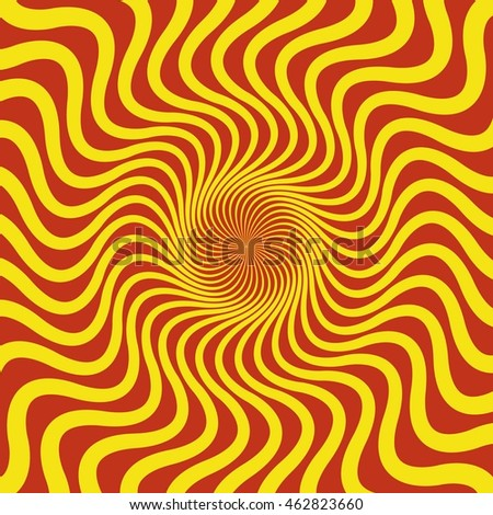 3d effect abstract pattern. Optical illusion. Raster version.