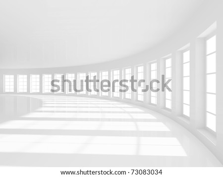 3d Empty Hall - stock photo