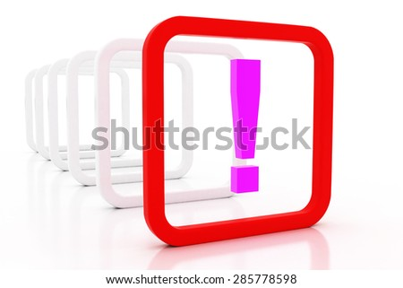 3D exclamation mark - stock photo