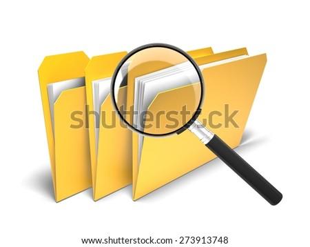3D. File, Data, Symbol. - stock photo