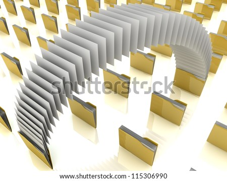 3D file share - stock photo