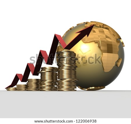 3d Financial success concept - stock photo