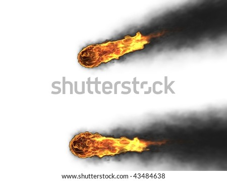 3d fireballs - stock photo