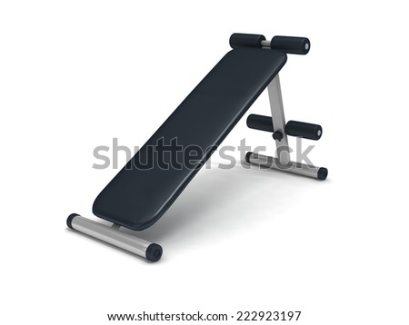 3d fitness stool on white background.