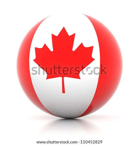 3d flag icon collection - Canada