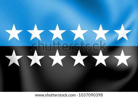 3D Flag of European Coal and Steel Community. 3D Illustration.