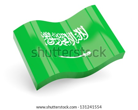 3d flag of saudi arabia isolated on white