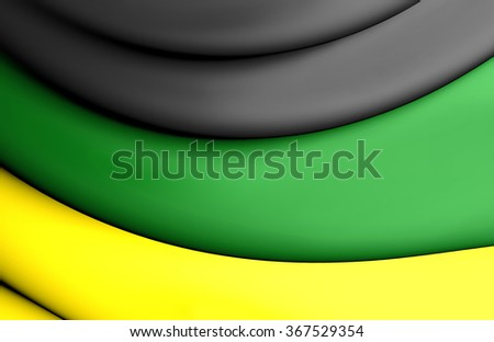 3D Flag of the African National Congress.   - stock photo
