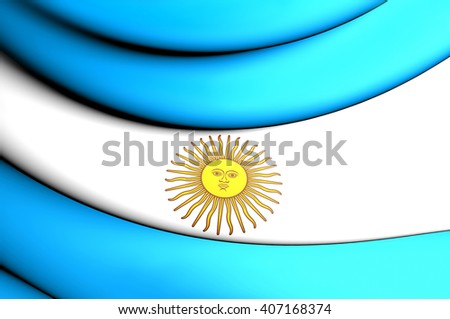 3D Flag of the Argentina. Close Up.    - stock photo