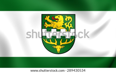 3D Flag of the Bergisch Gladbach, Germany. Close Up.    - stock photo
