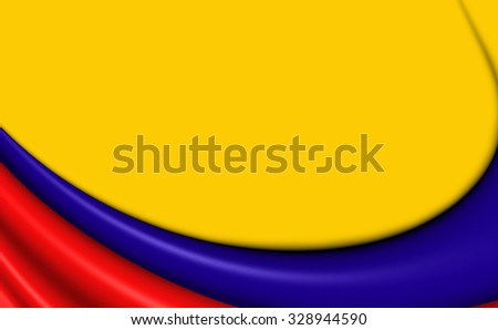 3D Flag of the Colombia. Close Up.    - stock photo