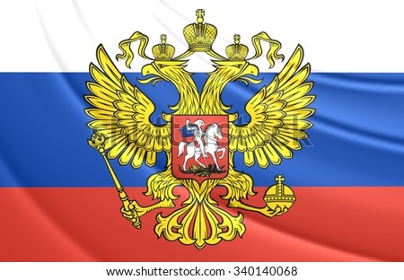 3D Flag of the Russia. Close Up.    - stock photo