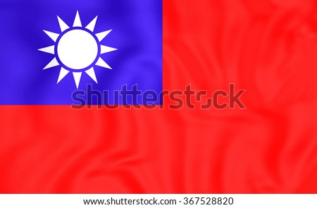 3D Flag of the Taiwan. Close Up.    - stock photo
