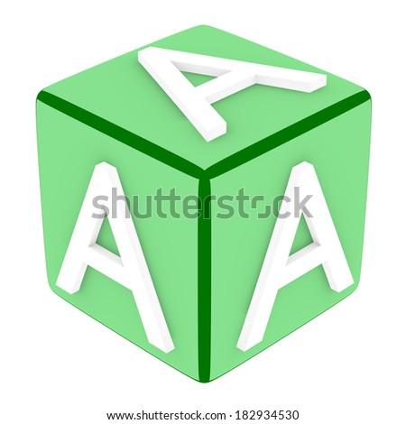 3d Font Cube Letter A - stock photo