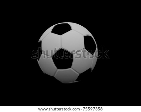 3d football - stock photo