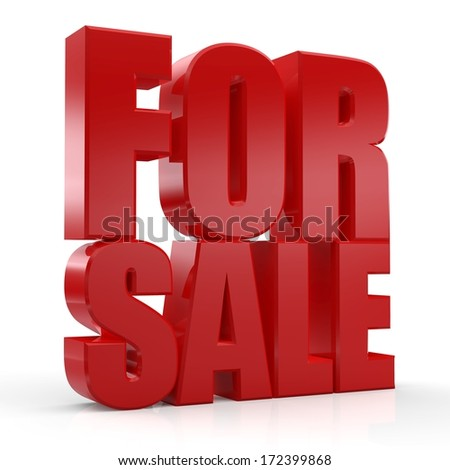 3D For Sale text on white background