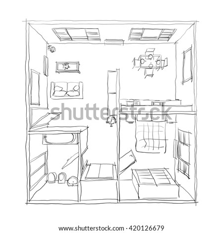 I0000dCHe in addition Fur Bean Bags besides Starbucks further 7 moreover 3d Freehand Drawing Illustration Furnished Apartment 420126679. on dining table 3d model