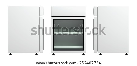 3D Fridge small size for drink products or beverage, object isolated - stock photo