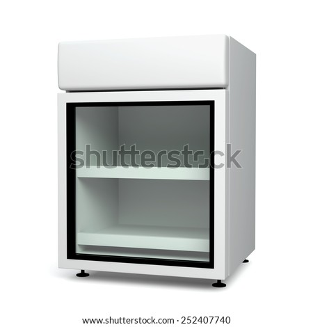 3D Fridge small size for drink products or beverage, object isolated