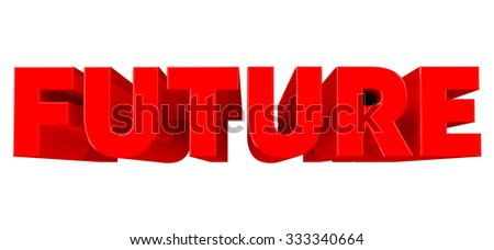 3D FUTURE word on white background 3d rendering - stock photo