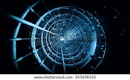 3D futuristic background  - stock photo