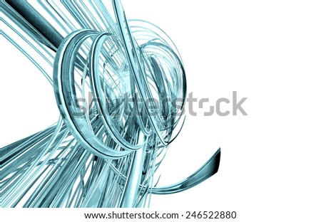 3d futuristic design isolated on white  - stock photo