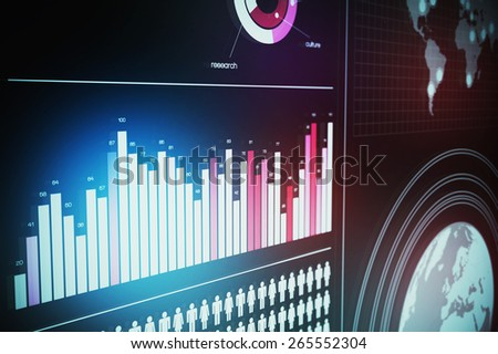 3D Futuristic Screen Visual with RGB Effect - stock photo