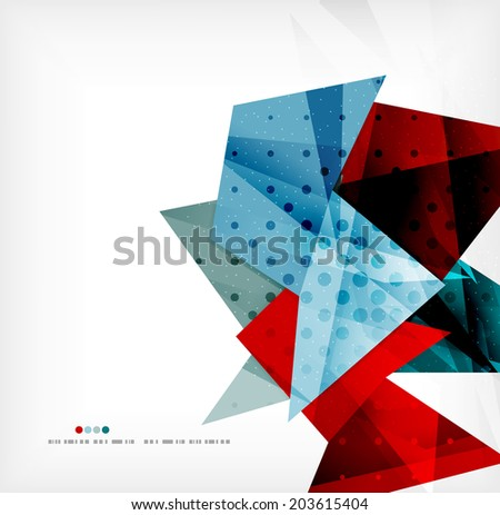 3d futuristic shapes abstract background made of glossy pieces with light effects and textured surfaces