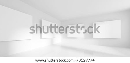 3d Gallery - stock photo