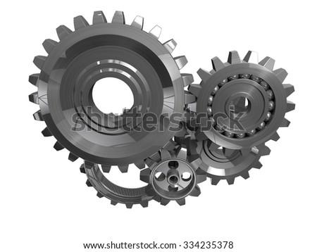 3d gear - stock photo
