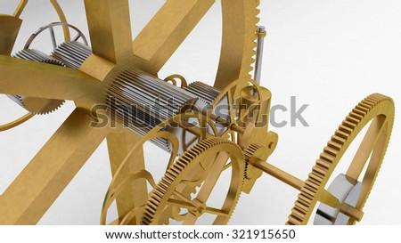 3d gear background to illustrate mechanic, engineering, industry and technology concepts - stock photo