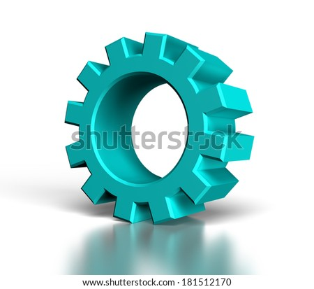 3d gear on white background