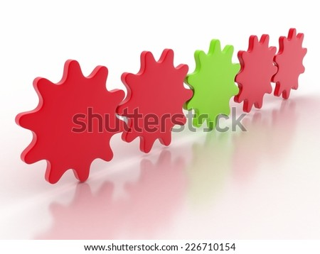 3d gear outstanding colour stock image - stock photo