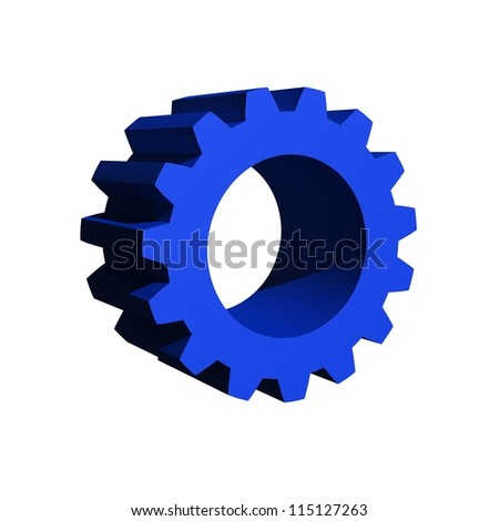 3d gears isolated against a white background
