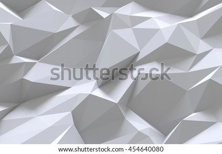 3D generated abstract white pattern as a background - stock photo