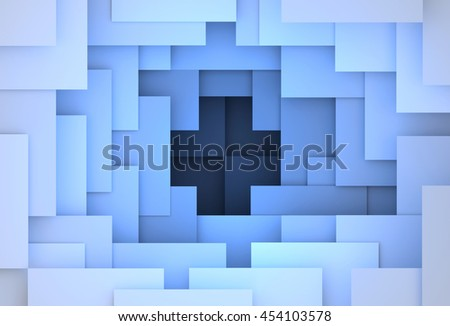 3D generated blue abstract illustration as background - stock photo