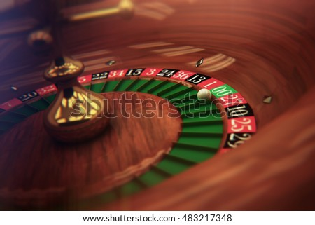 3D generated Roulette table detail with double zero winning.