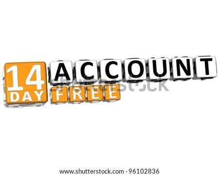 3 d get 14 day account free stock illustration 96102836 shutterstock