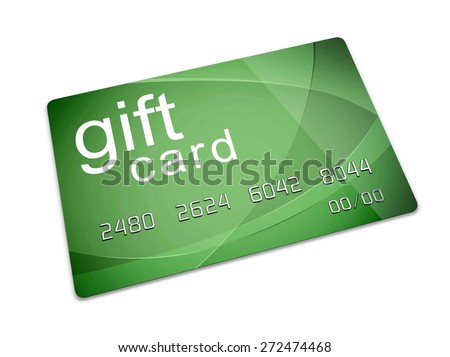 3D. Gift, Retail, White Background.