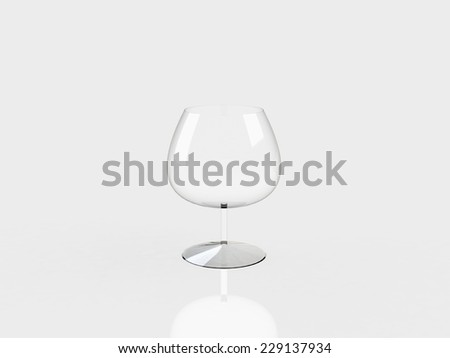 3d glass cup - stock photo
