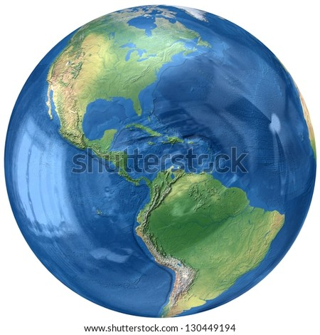 3D Glass Globe. Elements of this image furnished by NASA - stock photo