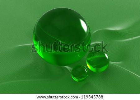 3D glass sphere - stock photo